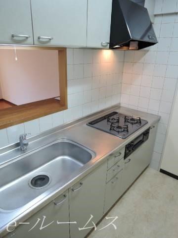 3口ガス・グリル付システムキッチン