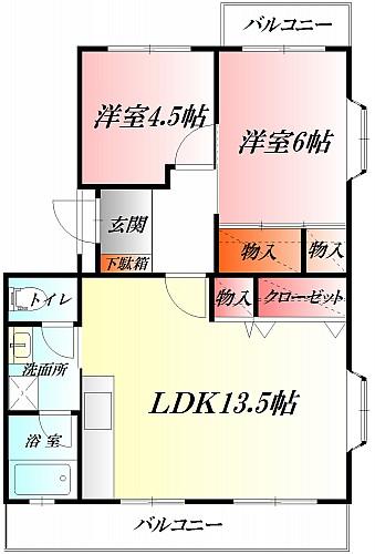 ◆南面LDK13.5帖◆最上階の角部屋◆眺望・陽当り良好◆