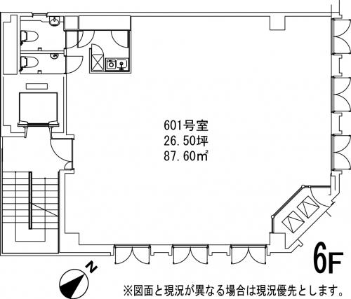 カーザ ベルソーレ 601号室