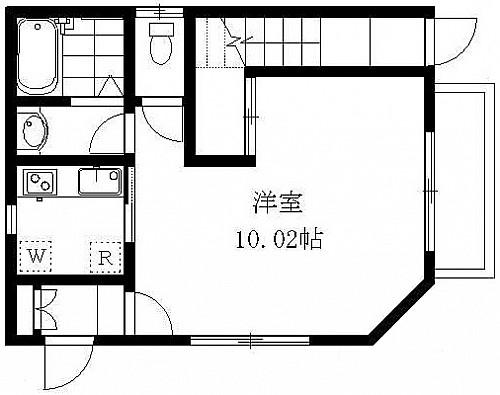 洋室10.02帖 キッチン バス トイレ