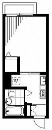 洋室5.5帖 キッチン ユニットバス