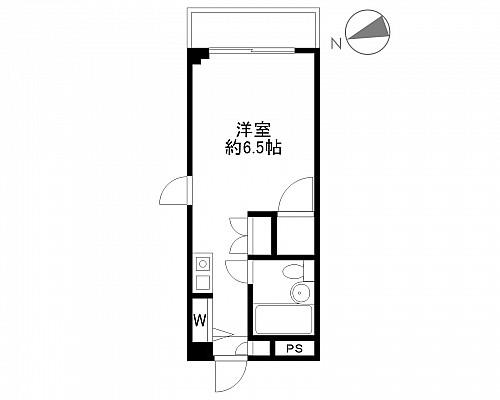 洋室6.5帖 キッチン ユニットバス