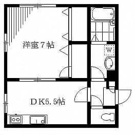 洋室7帖 DK5.5帖 キッチン バス トイレ