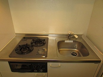 キッチン 2口ガスコンロのシステムキッチン