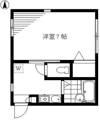 洋室7帖 キッチン バス トイレ
