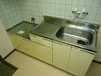 キッチン 2口ガスコンロ設置可 広めの調理スペース