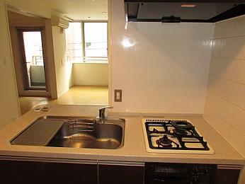 キッチン 2口システムキッチン(グリル付き)収納もたっぷり♪