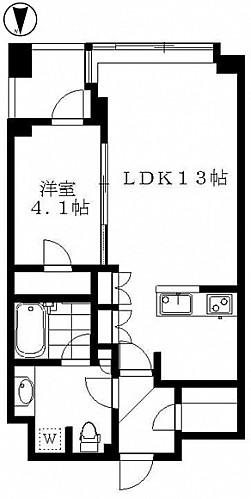 洋室4.1帖 LDK13帖 キッチン バス トイレ