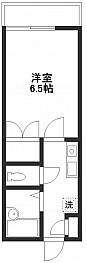 洋室6.5帖 キッチン バス トイレ