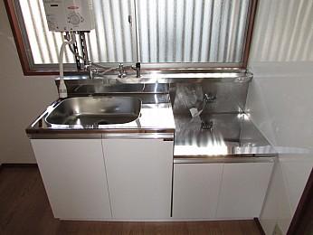 キッチン 2口コンロ設置可 スペース広めでお料理を楽しめます♪