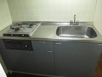 キッチン 2口システムガスキッチン(グリル付)