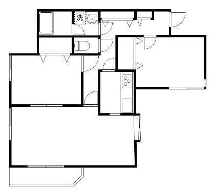 洋室6帖 洋室6帖 LDK10帖 キッチン バス  トイレ