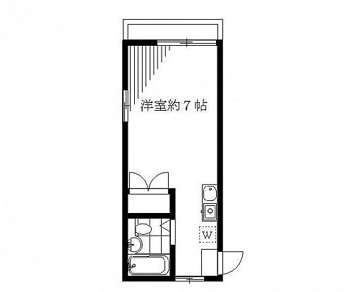 洋室7帖 キッチン ユニットバス