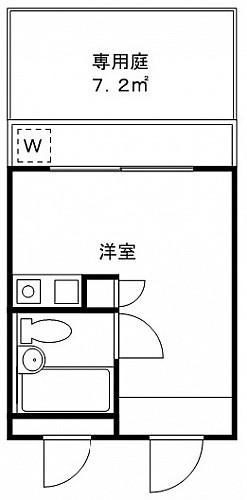 洋室6帖 キッチン ユニットバス