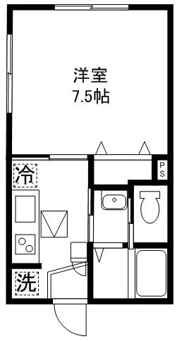 洋室7.5帖 キッチン バス トイレ
