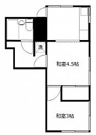 和室4.5帖 和室3帖 K4帖 キッチン ユニットバス