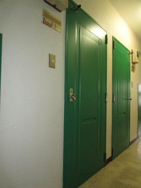 緑の鮮やかな玄関がお出迎え♪