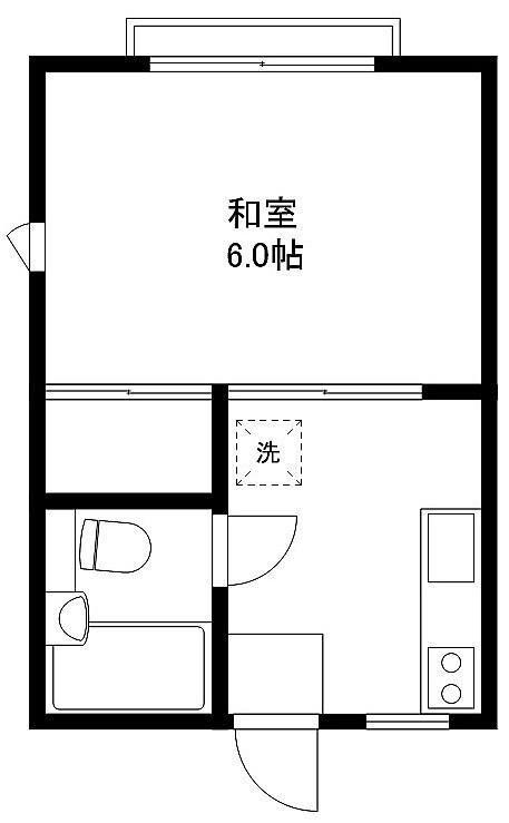 和室6帖 キッチン ユニットバス