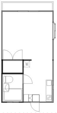 洋室8帖 キッチン ユニットバス