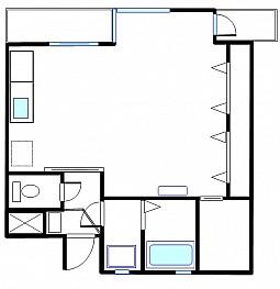 洋室8帖 キッチン バス トイレ