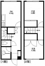 DK6帖  洋室5帖 4.5帖 キッチン バストイレ
