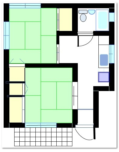 和室6帖・6帖 キッチン ユニットバス