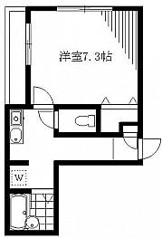 洋室7.3帖 キッチン バス トイレ