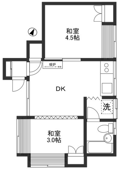 和室4.5帖 和室3帖 DK6帖 バス トイレ