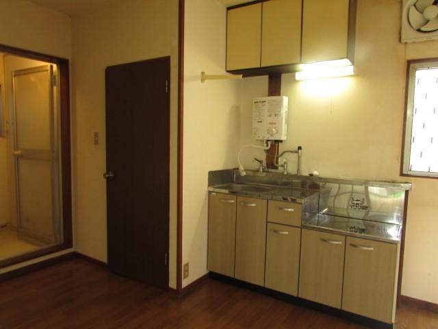 キッチン 2口ガスコンロ設置可