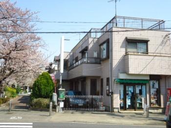 桜咲く緑道沿いにあるワンルーム