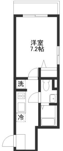 洋室7,2帖 キッチン バス トイレ