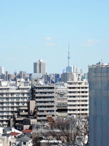 高層階の部屋からは東京スカイツリーも見えます