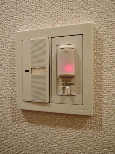 人感センサー。玄関に来ると自動で照明が点灯