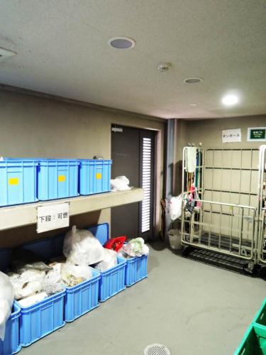 24時間利用可のゴミ集積場