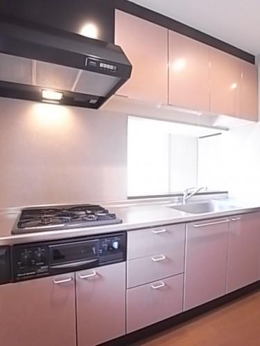 収納豊富なシステムキッチン! 幅238×奥61