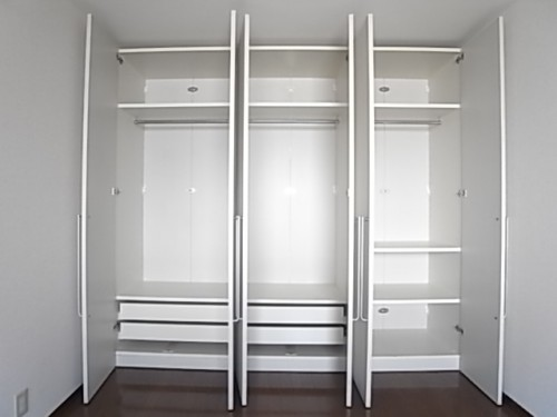 可動式収納。洋服がたくさん入ります!幅250×奥50×高220