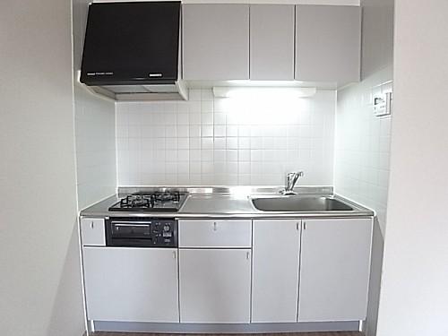 調理スペースも広いシステムキッチン!