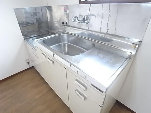 大きなシンクに広い調理スペース!