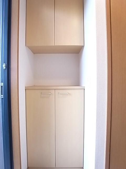 下駄箱が大きく玄関をすっきりした状態にしてくれます