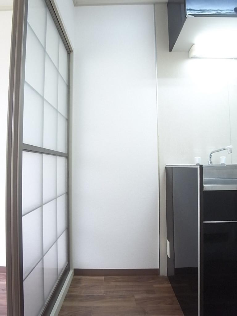 冷蔵庫置場。
