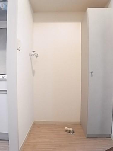 洗濯機置場。