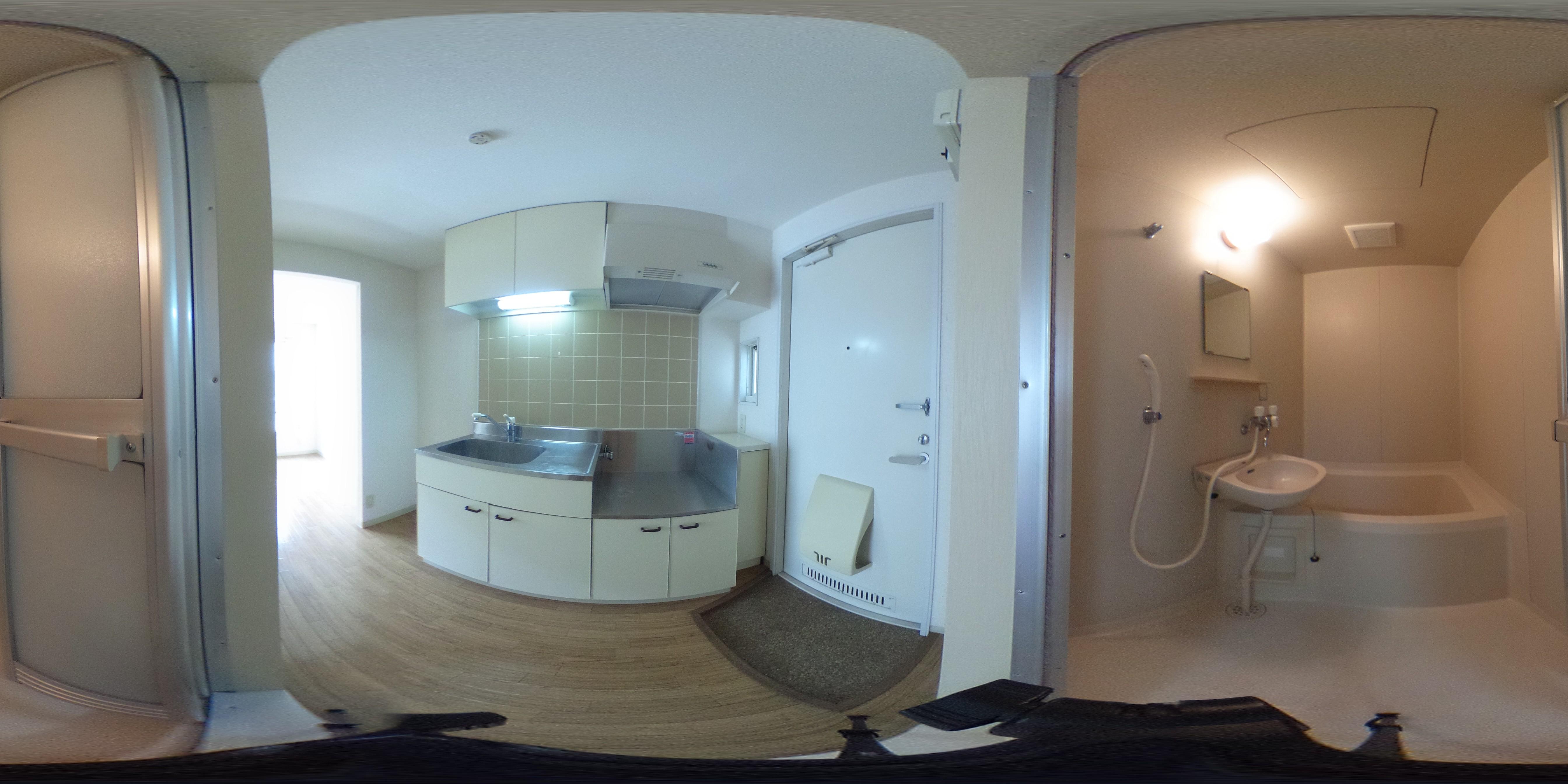 浴室とキッチン