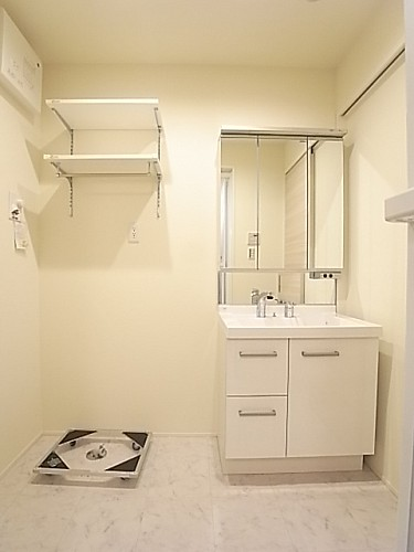 洗面脱衣所も広く使いやすい!