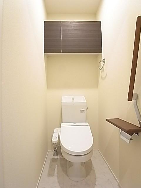 温水洗浄便座付きのトイレ!