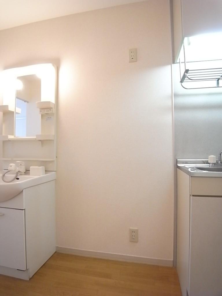 冷蔵庫置場。広めに場所がとられています。