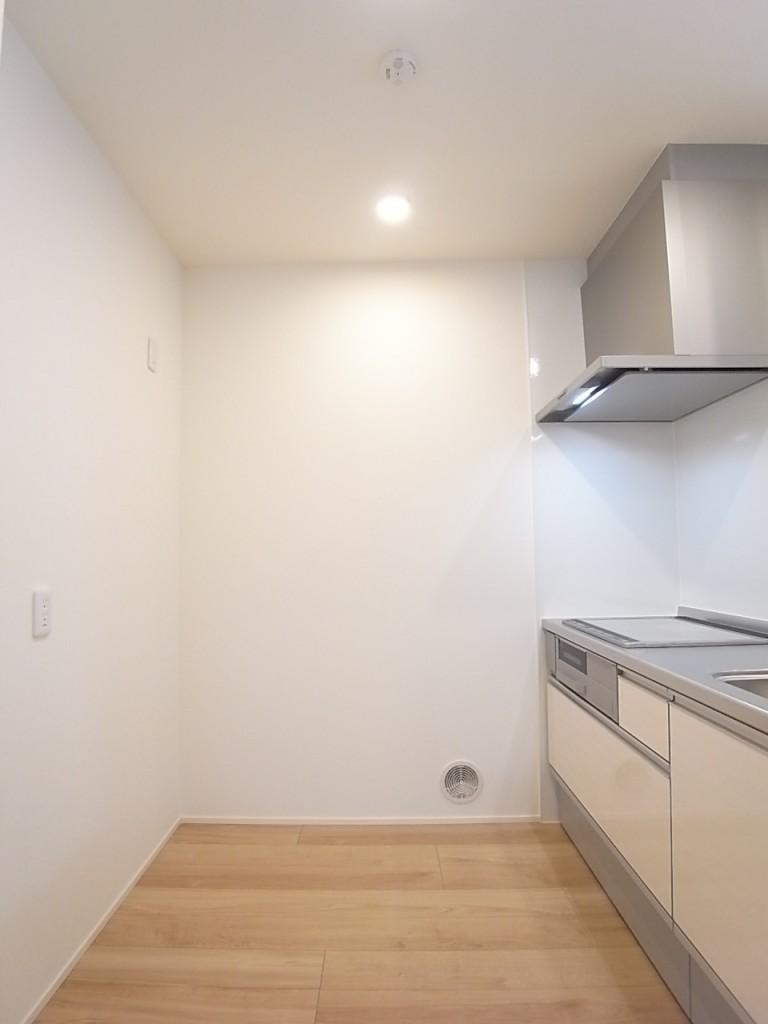 キッチンの背面も十分がスペースがあります!