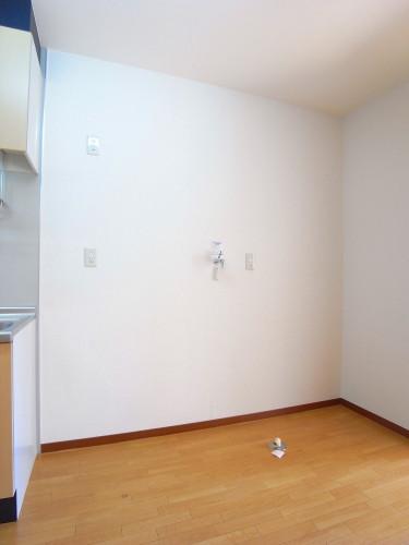 冷蔵庫、洗濯機を置いてもまだまだ余裕があります!