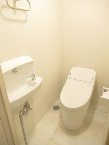 手洗い場所付きトイレ