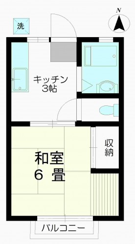 キッチン広めの1K☆