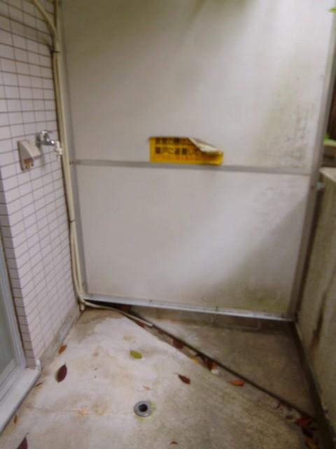 洗濯機置場 テラス